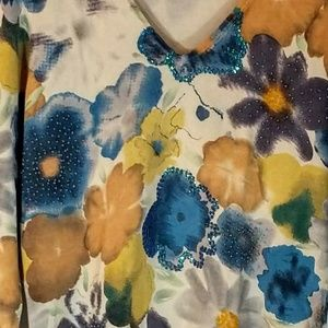Sweaterworks Sweaters - Beautiful Floral Beaded and Sequined Sweater sz L